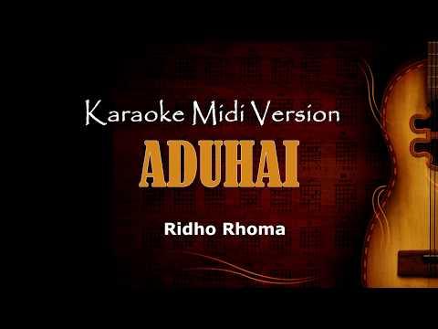 aduhai - ridho rhoma | Karaoke Dangdut Version Keyboard + Lirik tanpa vokal