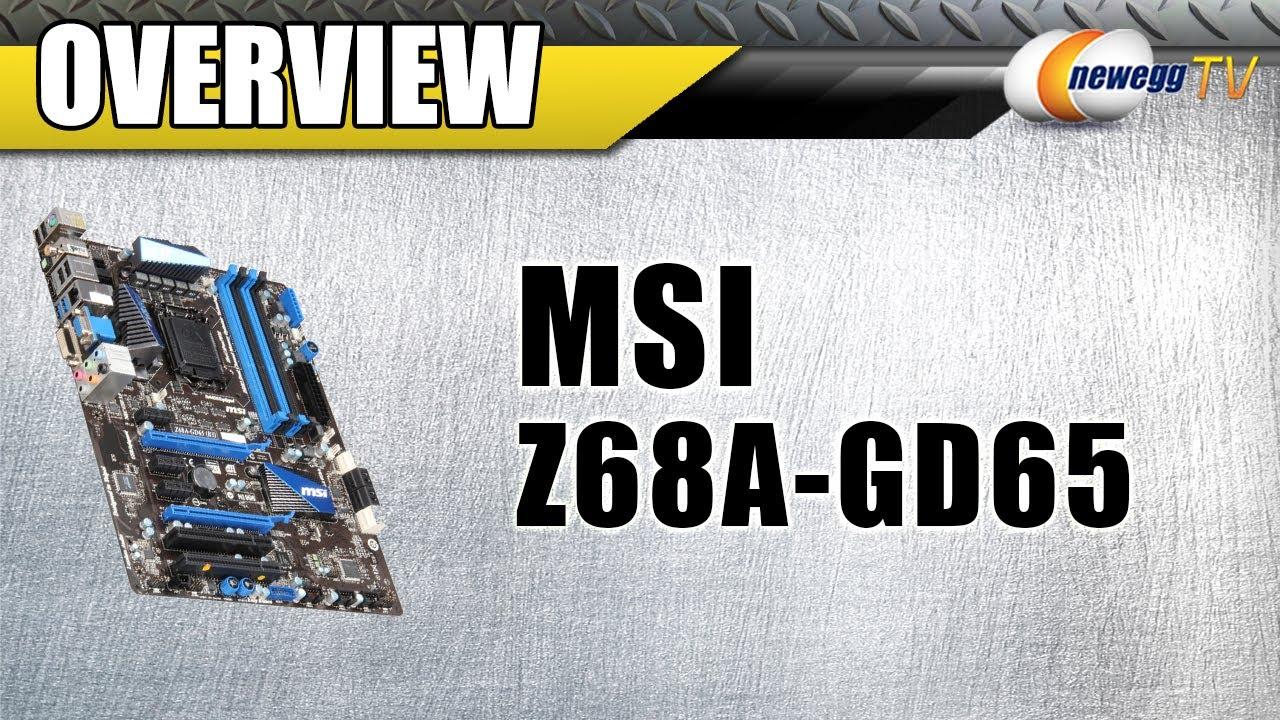 MSI Z68A-GD65 (G3) SUPER CHARGER WINDOWS 7 X64 TREIBER