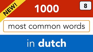 Dutch verbs - Lesson 8: Most common verbs & Dutch verb conjugation