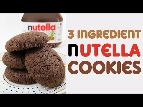 3 INGREDIENT NUTELLA COOKIES | Easy Recipe | Baking Cherry