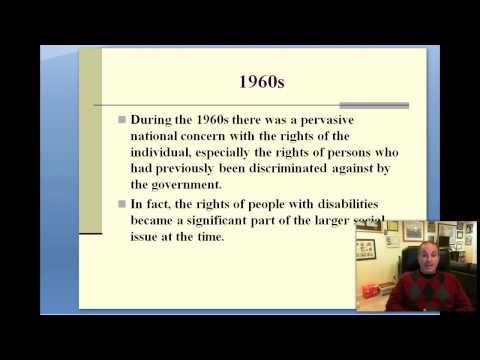 Part 2--History of Legal Issues in Special Education