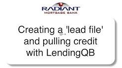 LendingQB tutorial