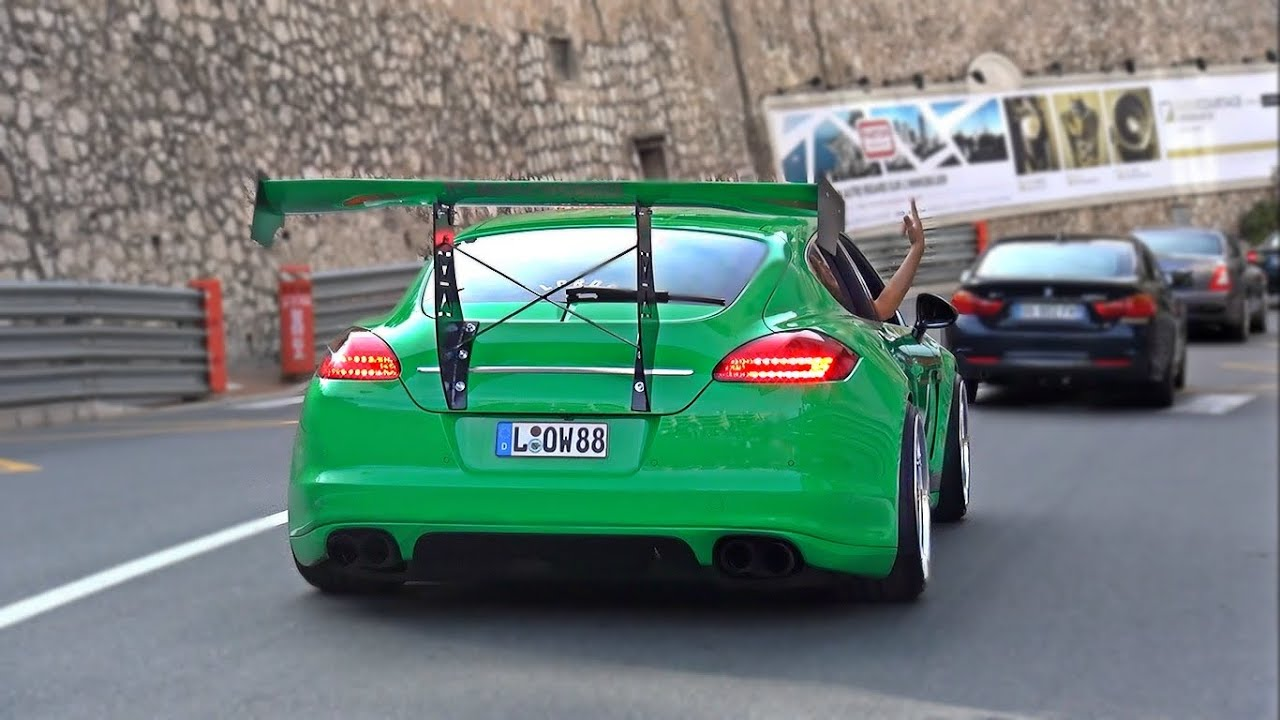 Mad Porsche Panamera Slammed With Huge Wing