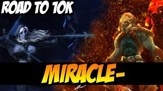 MIRACLE- 9064MMR SOLO RANKED, ROAD TO 10K - Huskar And Drow - Dota 2