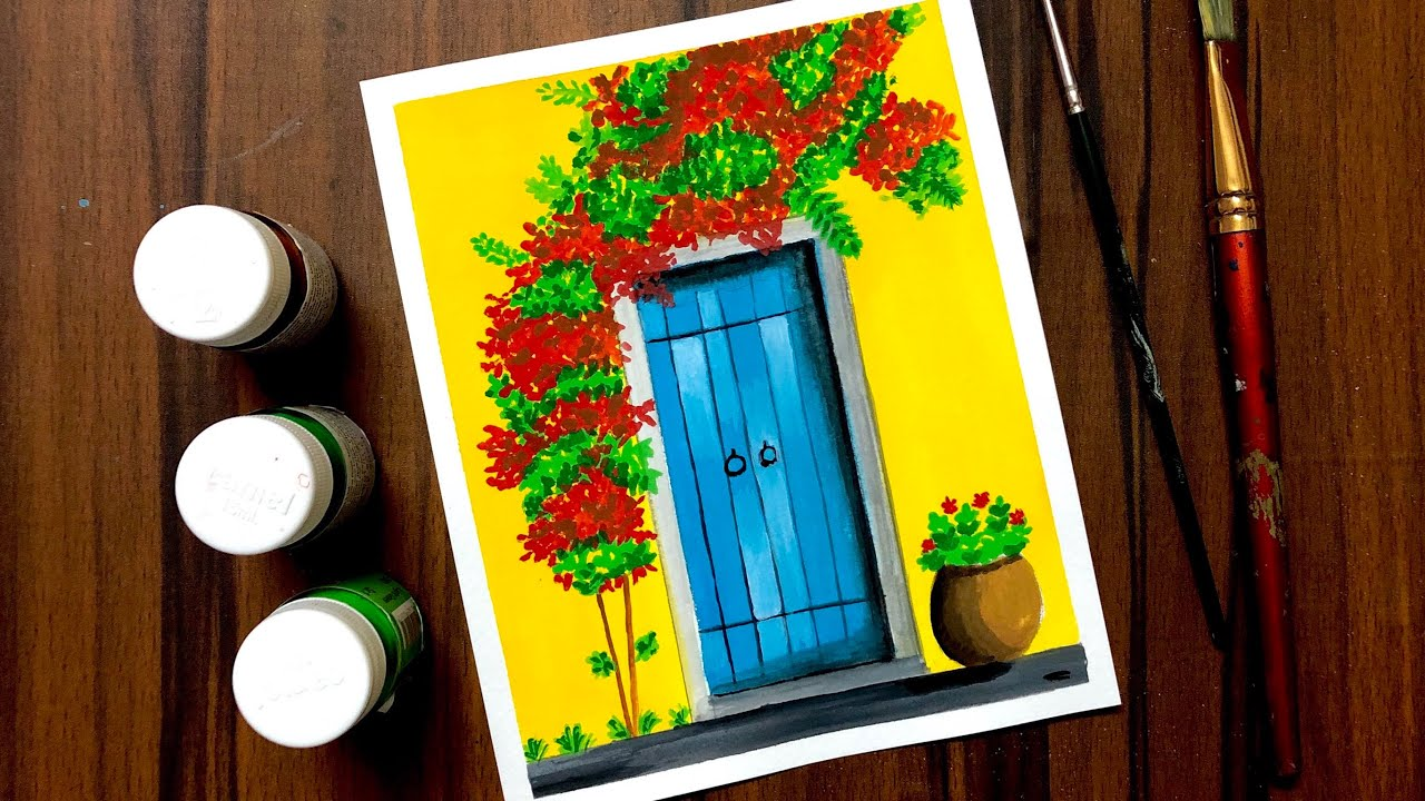 poster colour painting for beginners easy painting ideas poster colour painting ideas