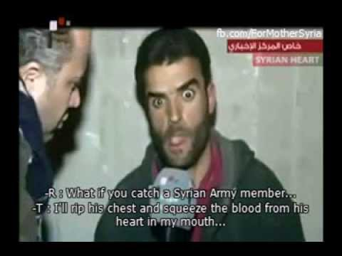 Lunatic Drug-addict Nusra terrorist captured in Yabroud [English]