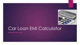 Car Loan EMI Calculator