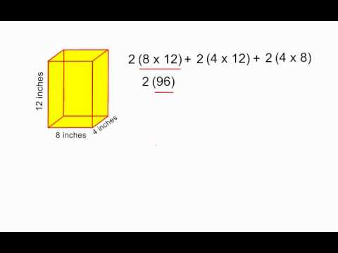 Surface Area Of A Rectangular Prism Youtube