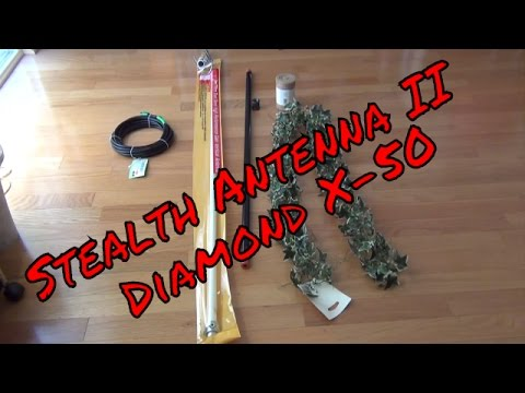 Ham Radio Antenna - Diamond X-50 Stealth Antenna II (Do It Yourself)