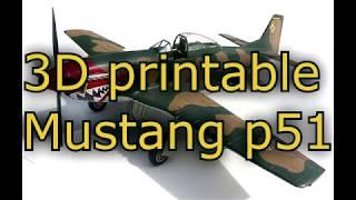 3D printable Mustang p51 [part 4] thumbnail