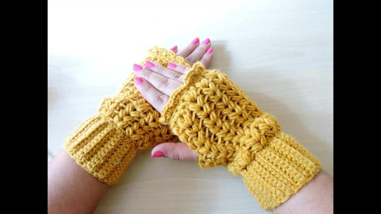 Mitones de ganchillo crochet mittens tutorial paso a paso youtube - Labores a ganchillo paso a paso ...