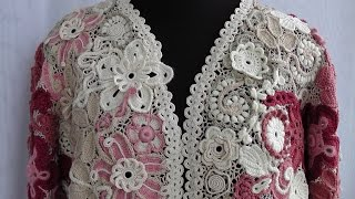 Сетка в ирландском кружеве.Как соединять мотивы. Ирландское кружево. Irish lace. irish crochet.