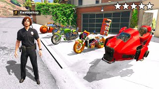 COLLECTING BILLIONAIRE BIKES As FAKE COP In GTA 5 RP!