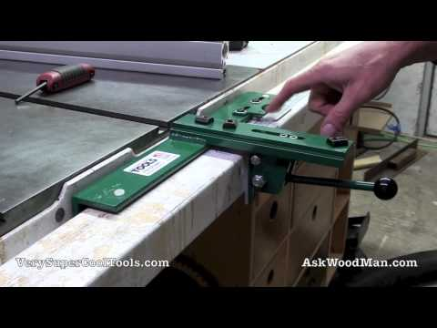 """4/6 Adjustable Throat T-Square Table Saw Fence -  Reset on a 3""""x2"""" steel tubing guide rail"""