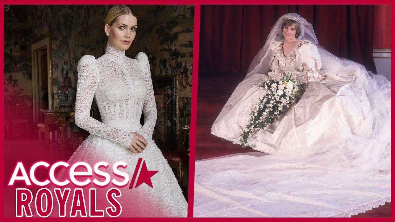 Princess Diana's Niece Kitty Spencer's Bridal Dress Is Royal-Like!