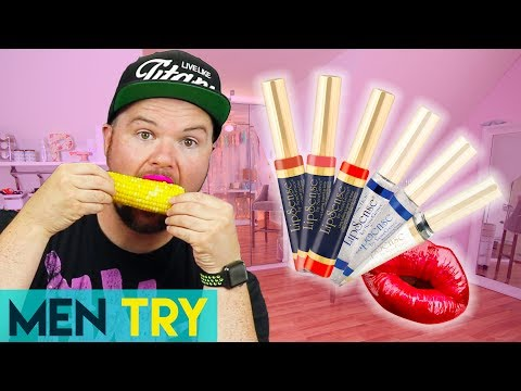 Men Try Testing Long Lasting Lipstick - LipSense Liquid Lipstick Review
