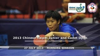 2013 Chinese Taipei Junior & Cadet Open : Day 4 - Morning Session