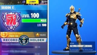 LVL 99 - UNLOCKING LEVEL 100 MAINTENANT! NOUVEAU LEVEL 100 REWARDS IN SEASON X! (Saison X Fortnite Live)