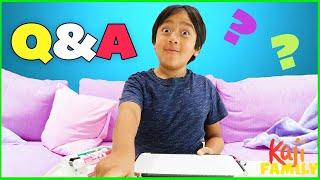 Ryan's Favorite Things Q&A! What's Ryan's Favorite Game??