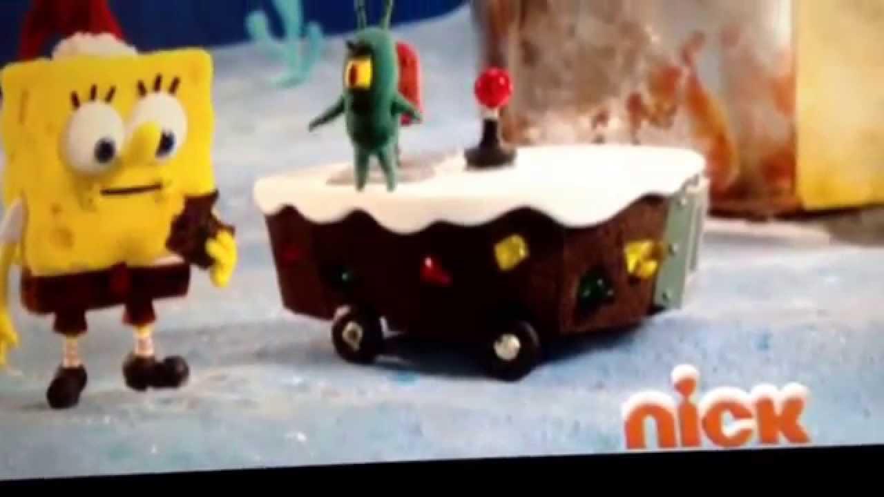 Spongebob Christmas Fruit Cake