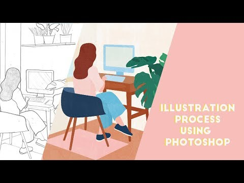 ILLUSTRATION PROCESS using Adobe Photoshop | How I make my art