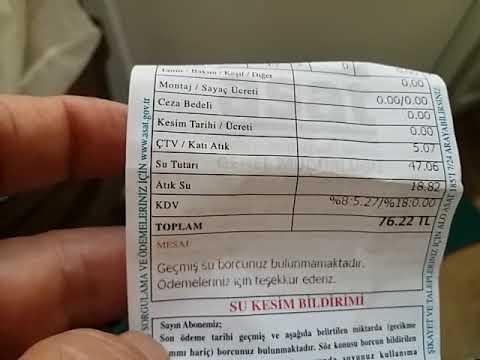 Сколько платят граждане в Анталии за услуги ЖКХ?Вода,канализация,твердые бытовые отходы!