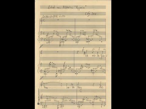 """Werner Heinrich Schmitt """"Memoriae"""" Anke Vondung Lied Nr 4 Zitat aus Hölderlins """"Hyperion"""""""