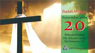 Ibadah Minggu, 20 September 2020 GKJW Jemaat Simomulyo