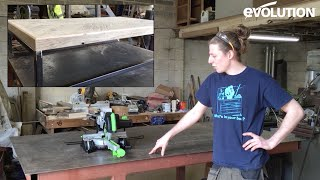 Evolution Fury3-S Mitre Saw / Miter Saw: Make a table from reclaimed wood