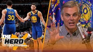 Colin Cowherd credits Klay Thompson's NBA record performance to Steph Curry | NBA | THE HERD