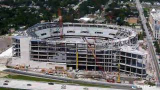 Time-lapse Presentation Of Exterior Construction Of Arena