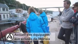 Accueil des équipages aux écluses de Morlaix