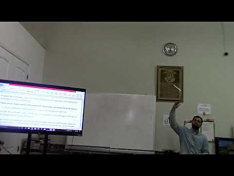 Hifth workshop with explaning the concept of Ijazah- Part 1- IQRA Academy of Cary Masjid