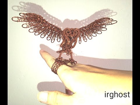 How to make a cool NIGHT OWL from copper wire by irghost