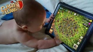 My Brother Falls Asleep While Playing Clash of Clans | COC Addiction