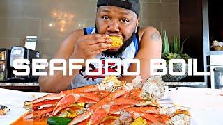 BAIRDI CRAB + SEAFOOD BOIL + DESHELLED KING CRAB  |MUKBANG + SHELL SHACK IN DALLAS