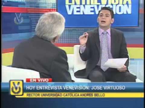 Entrevista Venevisión: Padre José Virtuoso, Rector de la Universidad Católica Andrés Bello