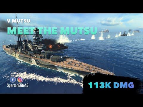 Spartans Honest First Looks: The Mutsu! Tier 5 Battleship (World of  Warships Legends X)