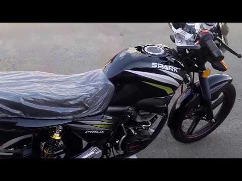 Первый запуск двигателя китайского мотоцикла Spark SP200R 25 Спарк сп200р 25