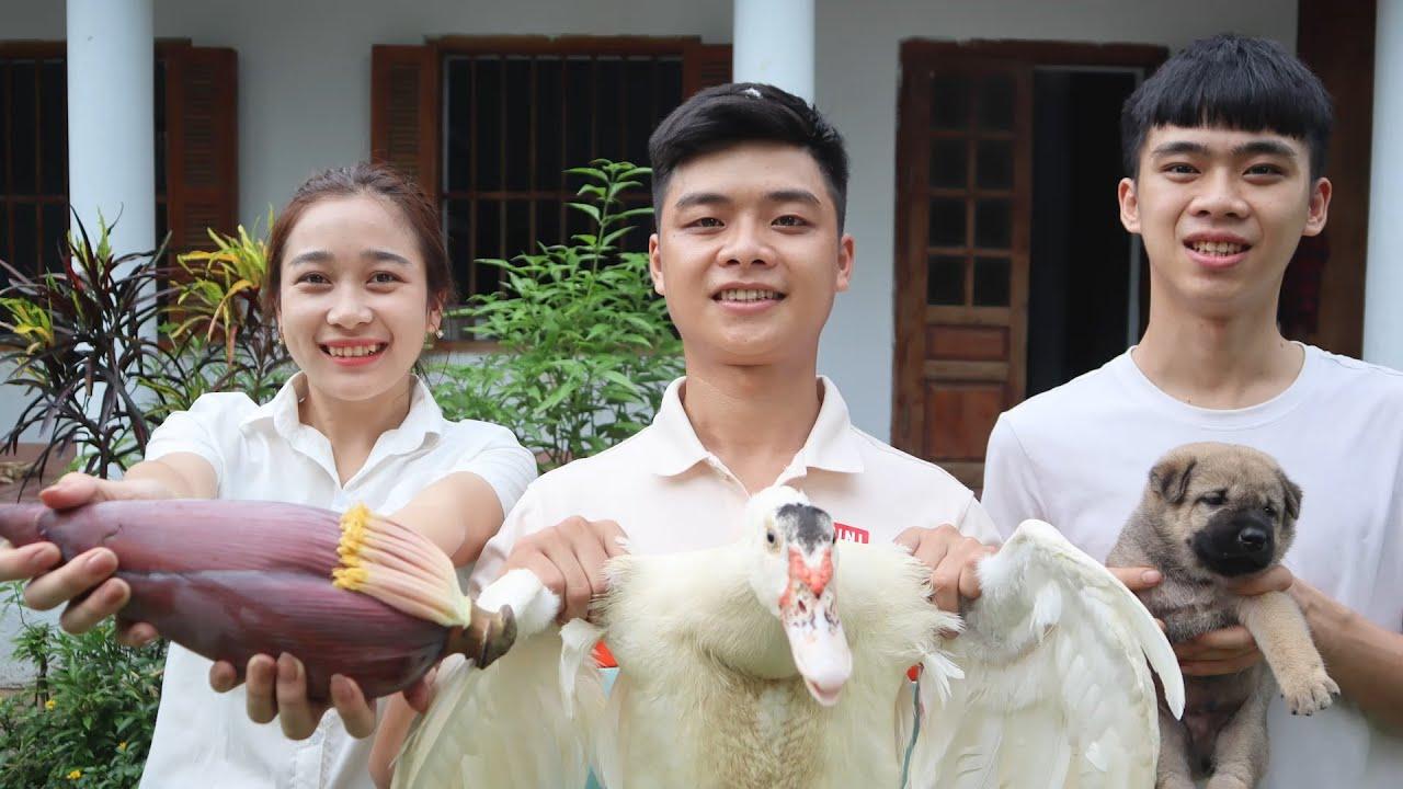 Thịt ngan nhồi măng và đón thêm thành viên mới nhà A Đô