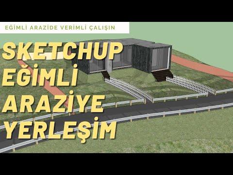 Sketchup Eğimli Araziye Bina Yerleştirme 01 [ÇOK KOLAY]