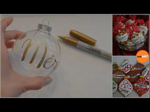 Glass Ball Christmas Ornaments Personalized Xmas Ornaments