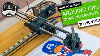 Super Easy 3D Priฑted Arduino CNC Drawing Machine | GRBL Plotter Elegoo