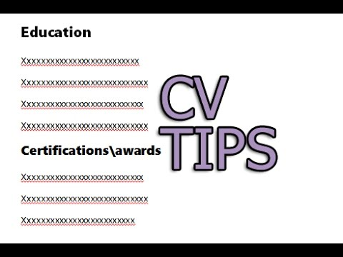 Important Tips About CV Or Resume And My CV Format Gift