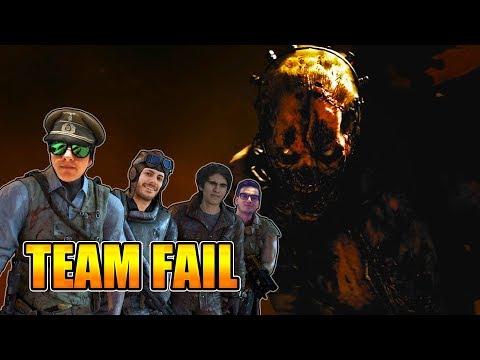 TEAM FAIL vs THE DARKEST SHORE | EASTER EGG | DLC 1 WWII ZOMBIES