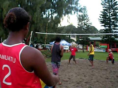 Beach Volleyball at the Vanuatu Sports Festival in Port Vila