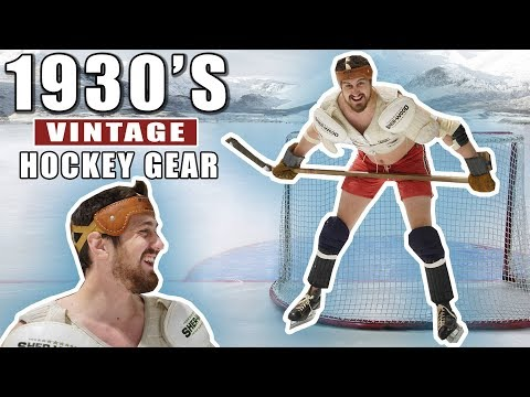 Hockey Skills Competition With VINTAGE Gear From The 1930's