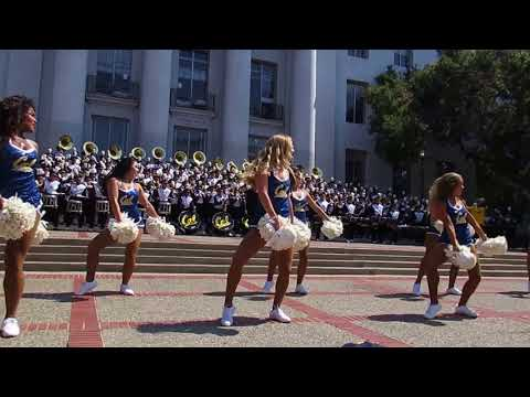 Cal Band Sproul Hall Rally vs. Weber State 2017 Berkeley California (Miley Cyrus Show)