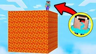 КАК ВЫЖИТЬ НУБУ НА БЛОКЕ ЛАВЫ В Майнкрафте! Minecraft Мультики Майнкрафт троллинг Нуб и Про