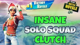 Nog Ops Skin Is Back! Insane Solo Squad Clutch! - Fortnite Battle Royale - Darth (Xbox)